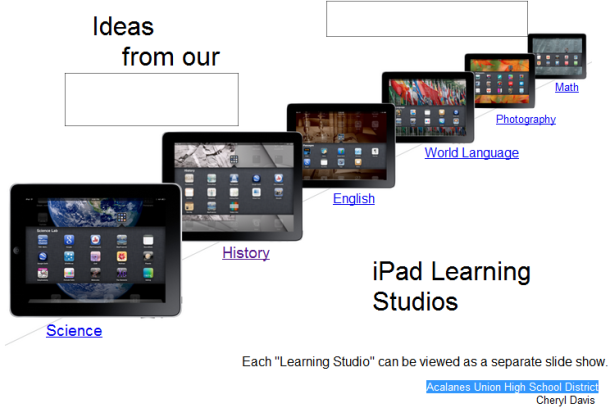 iPad Apps for learning