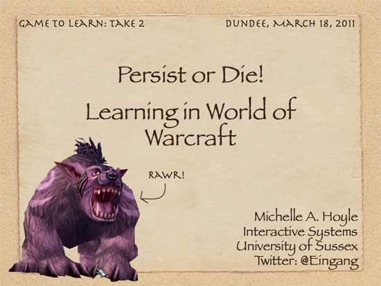 game-based learning, world of warcraft in schools