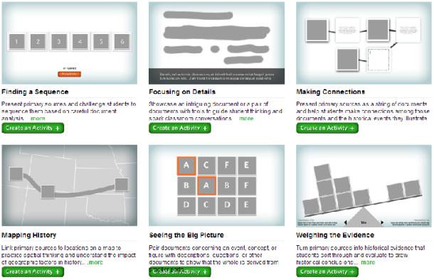 DOCSTEACH activities tools