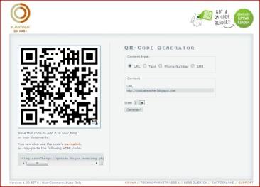 QR code in classroom