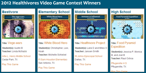 video game contest for K-12