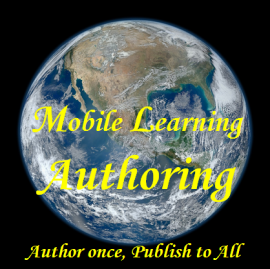 Earch image from NASA, mobile learning authoring