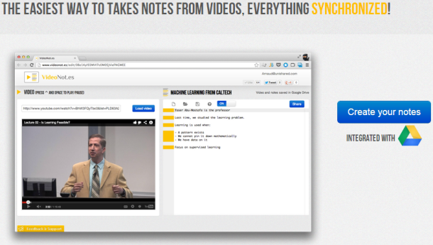 video note taking tool