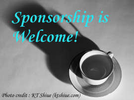 Sponsorship is welcome