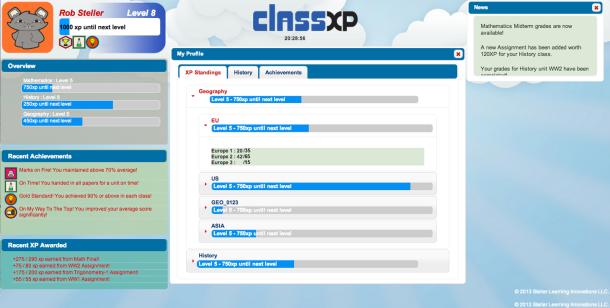 ClassXP screenshot